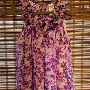 Girls flower dress, size 8